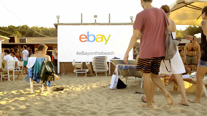 "Video promozionali evento ""eBay on the beach"""